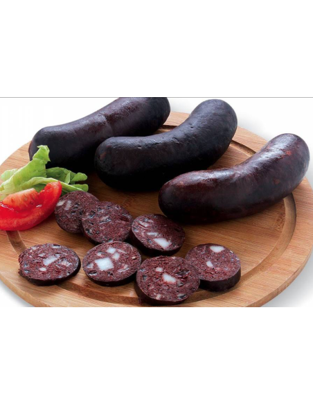 Onion's black pudding for cooking