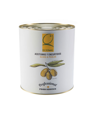 Spicy Pitted Gordal Olives, Catering Size Tin