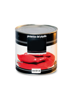 Whole Piquillo Roasted Peppers, 2.5Kg Catering Size Tin
