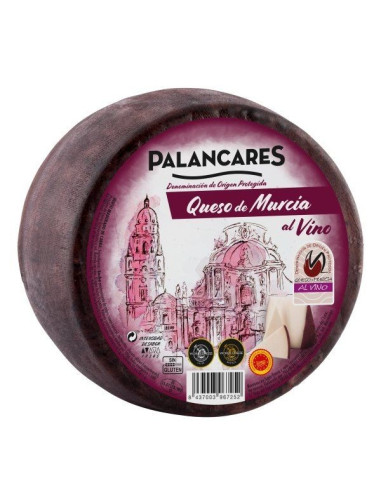 Murcia al Vino, Drunken Goats' Cheese, 3 months old, pasteurised, 500g wheel