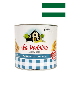 Precooked  Garbanzos, Large Chick Peas, 2.5Kg Catering Size Tin