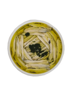 Cantabric Boquerones, White Anchovies in Olive Oil, Garlic and Parsley, 850g large tub