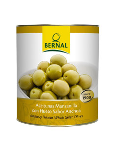 Stone-in Green Manzanilla Olives, Catering Size Tin